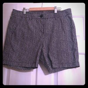 Cabo black and white dress shorts
